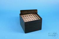 EPPi® Box 105 / 8x8 holes, black/black, height 105 mm fix, alpha-num. ID...