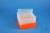 EPPi® Box 105 / 8x8 Löcher, neon-orange, Höhe 105 mm fix, alpha-num....