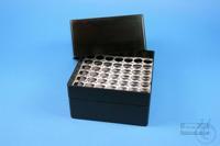 EPPi® Box 122 / 7x7 holes, black/black, height 122 mm fix, alpha-num. ID...