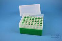 EPPi® Box 122 / 7x7 holes, green, height 122 mm fix, alpha-num. ID code, PP....