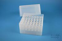 EPPi® Box 122 / 7x7 holes, natural, height 122 mm fix, alpha-num. ID code,...