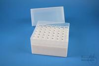 EPPi® Box 122 / 7x7 holes, white, height 122 mm fix, alpha-num. ID code, PP....