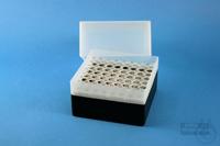 EPPi® Box 122 / 8x8 holes, black, height 122 mm fix, alpha-num. ID code, PP....