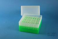 EPPi® Box 122 / 8x8 holes, neon-green, height 122 mm fix, alpha-num. ID code,...