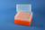 EPPi® Box 122 / 8x8 Löcher, neon-orange, Höhe 122 mm fix, alpha-num....
