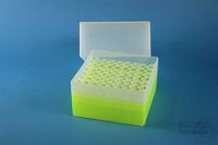 EPPi® Box 122 / 8x8 holes, neon-yellow, height 122 mm fix, alpha-num. ID...