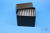 EPPi® Box 128 / 7x7 Löcher, black/black, Höhe 128 mm fix, alpha-num....