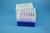 EPPi® Box 128 / 7x7 Löcher, neon-blau, Höhe 128 mm fix, alpha-num. Codierung,...