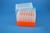 EPPi® Box 128 / 7x7 Löcher, neon-orange, Höhe 128 mm fix, alpha-num....