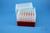 EPPi® Box 128 / 7x7 Löcher, rot, Höhe 128 mm fix, alpha-num. Codierung, PP....