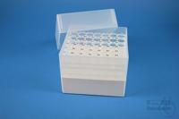 EPPi® Box 128 / 7x7 holes, white, height 128 mm fix, alpha-num. ID code, PP....
