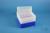 EPPi® Box 128 / 8x8 Löcher, neon-blau, Höhe 128 mm fix, alpha-num. Codierung,...