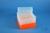 EPPi® Box 128 / 8x8 Löcher, neon-orange, Höhe 128 mm fix, alpha-num....