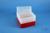 EPPi® Box 128 / 8x8 Löcher, rot, Höhe 128 mm fix, alpha-num. Codierung, PP....