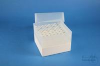 EPPi® Box 128 / 8x8 holes, white, height 128 mm fix, alpha-num. ID code, PP....