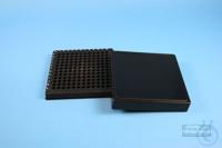 EPPi® Box 32 / 12x12 conical holes, black/black, height 32 mm fix, alpha-num....