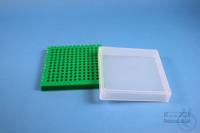 EPPi® Box 32 / 12x12 conical holes, green, height 32 mm fix, alpha-num. ID...