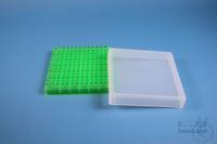 EPPi® Box 32 / 12x12 conical holes, neon-green, height 32 mm fix, alpha-num....