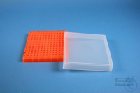EPPi® Box 32 / 12x12 conical holes, neon-orange, height 32 mm fix, alpha-num....