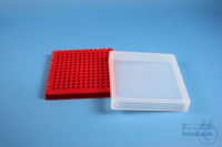 EPPi® Box 32 / 12x12 conical holes, red, height 32 mm fix, alpha-num. ID...