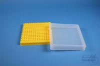 EPPi® Box 32 / 12x12 conical holes, yellow, height 32 mm fix, alpha-num. ID...