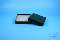 EPPi® Box 37 / 10x10 holes, black/black, height 37 mm fix, alpha-num. ID...