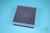 EPPi® Box 45 / 9x9 divider, violet, height 45-53 mm variable, alpha-num. ID...