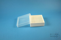 EPPi® Box 45 / 10x10 holes, white, height 45-53 mm variable, alpha-num. ID...