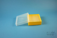 EPPi® Box 45 / 10x10 holes, yellow, height 45-53 mm variable, alpha-num. ID...