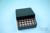EPPi® Box 45 / 7x7 Löcher, black/black, Höhe 45-53 mm variabel, alpha-num....
