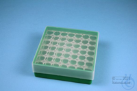 EPPi® Box 45 / 7x7 holes, green, height 45-53 mm variable, alpha-num. ID...
