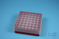 EPPi® Box 45 / 7x7 holes, red, height 45-53 mm variable, alpha-num. ID code,...