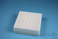 EPPi® Box 45 / 7x7 holes, white, height 45-53 mm variable, alpha-num. ID...