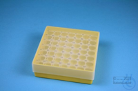 EPPi® Box 45 / 7x7 holes, yellow, height 45-53 mm variable, alpha-num. ID...