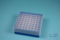 EPPi® Box 45 / 8x8 holes, blue, height 45-53 mm variable, alpha-num. ID code,...