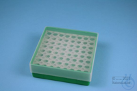 EPPi® Box 45 / 8x8 holes, green, height 45-53 mm variable, alpha-num. ID...