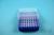 EPPi® Box 45 / 8x8 Löcher, neon-blau, Höhe 45-53 mm variabel, alpha-num....