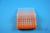 EPPi® Box 45 / 8x8 Löcher, neon-orange, Höhe 45-53 mm variabel, alpha-num....
