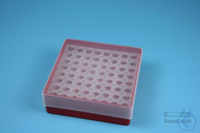 EPPi® Box 45 / 8x8 holes, red, height 45-53 mm variable, alpha-num. ID code,...
