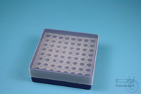 EPPi® Box 45 / 8x8 holes, violet, height 45-53 mm variable, alpha-num. ID...