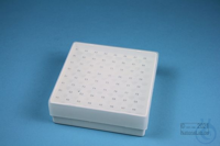 EPPi® Box 45 / 8x8 holes, white, height 45-53 mm variable, alpha-num. ID...
