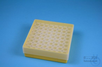 EPPi® Box 45 / 8x8 holes, yellow, height 45-53 mm variable, alpha-num. ID...