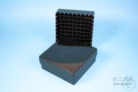EPPi® Box 50 / 9x9 divider, black/black, height 52 mm fix, alpha-num. ID...