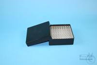 EPPi® Box 50 / 10x10 holes, black/black, height 52 mm fix, alpha-num. ID...