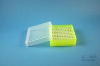 EPPi® Box 50 / 10x10 holes, neon-yellow, height 52 mm fix, alpha-num. ID...