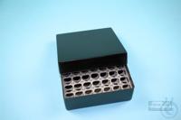 EPPi® Box 50 / 7x7 holes, black/black, height 52 mm fix, alpha-num. ID code,...