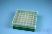 EPPi® Box 50 / 7x7 holes, green, height 52 mm fix, alpha-num. ID code, PP....