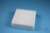 EPPi® Box 50 / 7x7 holes, white, height 52 mm fix, alpha-num. ID code, PP....