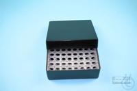 EPPi® Box 50 / 8x8 holes, black/black, height 52 mm fix, alpha-num. ID code,...