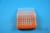 EPPi® Box 50 / 8x8 Löcher, neon-orange, Höhe 52 mm fix, alpha-num. Codierung,...